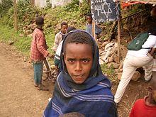 Un jeune Falash Mura en Ethiopie en 2005