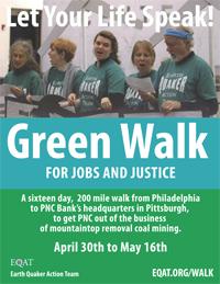 Green Walk Singlesheet Flyer