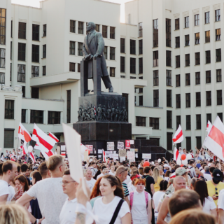 Manifestation en Biélorussie - Photo d'Artem Podrez
